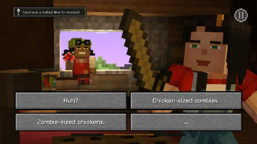 Gameplay of the Minecraft: Story mode v1.19 for Android phone or tablet.