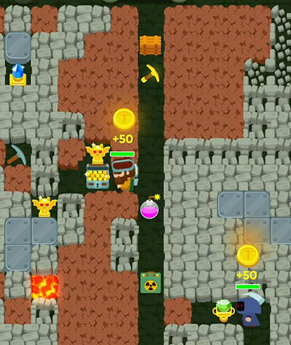 Full version of Android apk app Dig bombers: PvP multiplayer digging fight for tablet and phone.