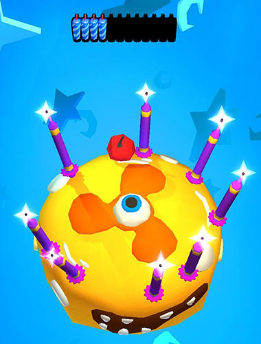 Gameplay of the Cake go: Party with candle for Android phone or tablet.