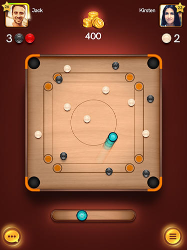 Gameplay of the Disc pool carrom for Android phone or tablet.
