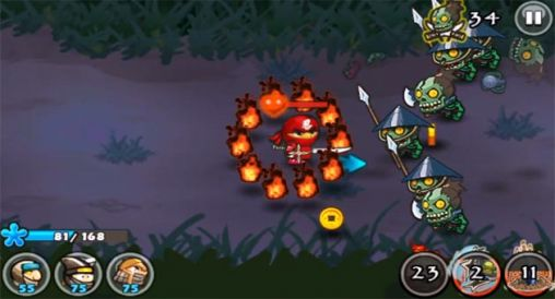 Full version of Android apk app Ninja and zombies for tablet and phone.