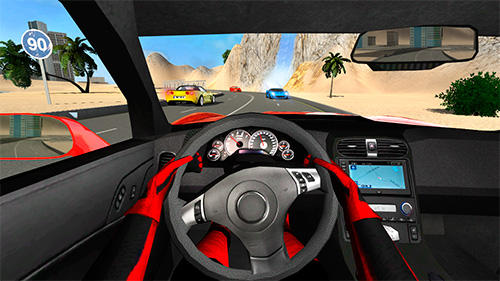 Gameplay of the Sport car Corvette for Android phone or tablet.