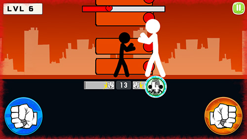 Gameplay of the Stickman fight 2018 for Android phone or tablet.