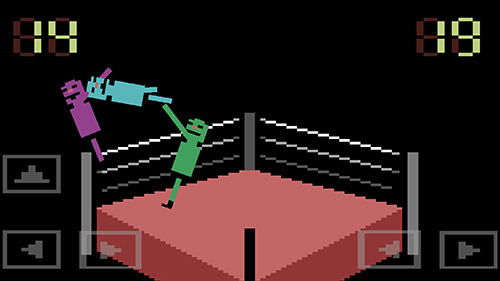 Gameplay of the Wras sling: Wacky wrestling for Android phone or tablet.