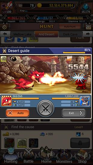 Gameplay of the Battle monsters for Android phone or tablet.