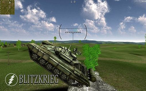 Gameplay of the Blitzkrieg MMO: Tank battles (Armored aces) for Android phone or tablet.