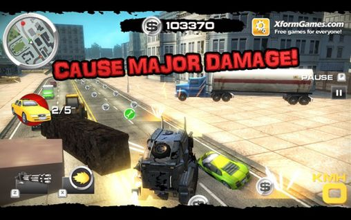 Gameplay of the Burnin' rubber: Crash n' burn for Android phone or tablet.