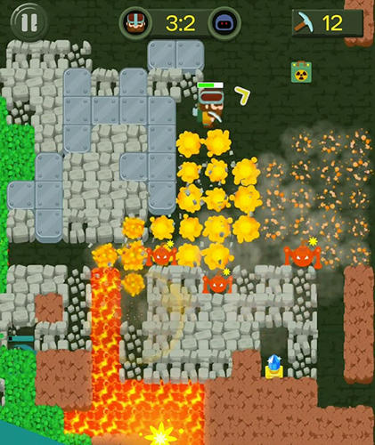 Dig bombers: PvP multiplayer digging fight - Android game screenshots.