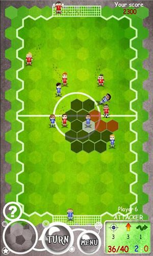 Gameplay of the Football tactics hex for Android phone or tablet.
