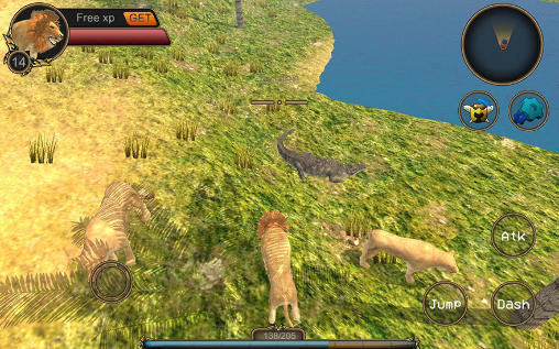Gameplay of the Lion RPG simulator for Android phone or tablet.