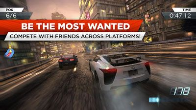 Gameplay of the Need for Speed: Most Wanted v1.3.69 for Android phone or tablet.