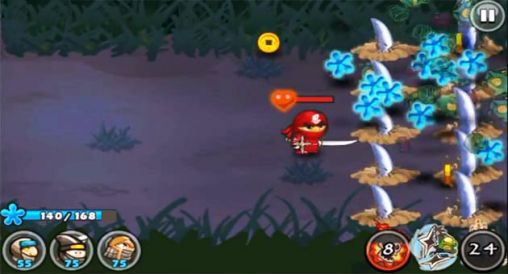 Gameplay of the Ninja and zombies for Android phone or tablet.