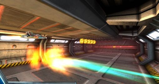 Gameplay of the Razor Run: 3D space shooter for Android phone or tablet.