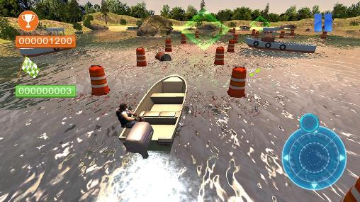 Gameplay of the Speed boat parking 3D 2015 for Android phone or tablet.