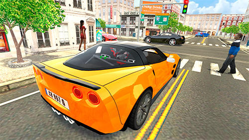 Sport car Corvette - Android game screenshots.