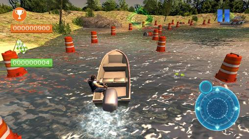 Speed boat parking 3D 2015 - Android game screenshots.