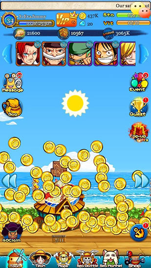 Strawhat pirates: Pirates king. Romance dawn - Android game screenshots.