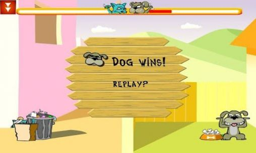 Gameplay of the Cat vs dog deluxe for Android phone or tablet.