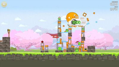Gameplay of the Angry Birds Seasons: Cherry Blossom Festival12 for Android phone or tablet.