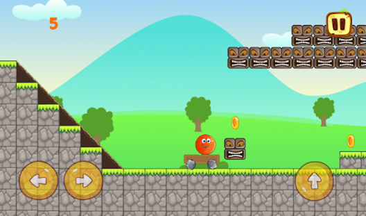 Gameplay of the Jump Ball adventure for Android phone or tablet.