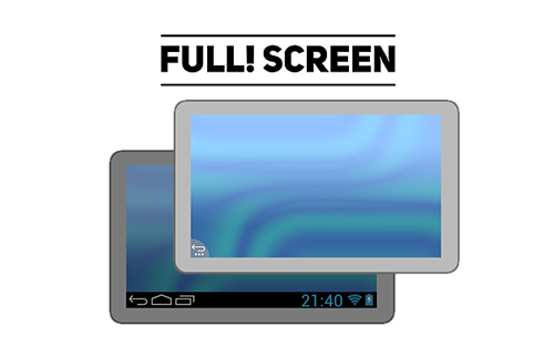 Download Full! screen - free Android 3.1 app for phones and tablets.