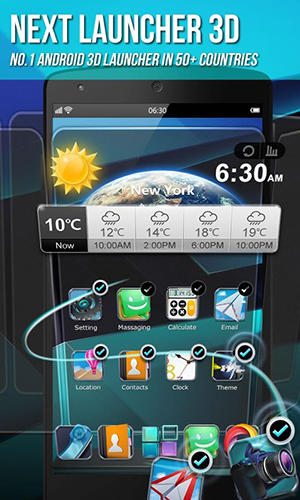 Download Next launcher 3D - free Android 3.0 app for phones and tablets.