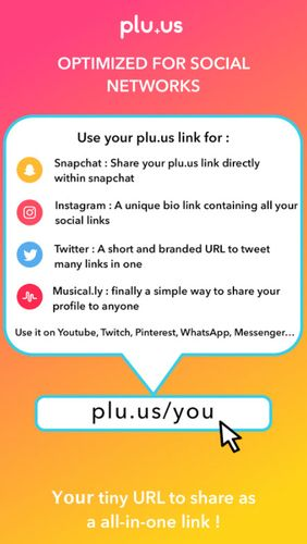 Plu.us – Your online world in one word