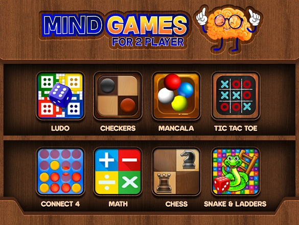 Full version of Android 4.1 apk Mind Games for 2 Player for tablet and phone.