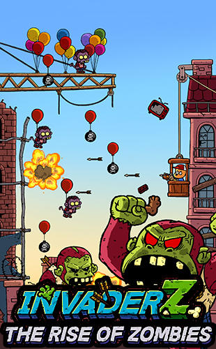 Download Invader Z: The rise of zombies iPhone game free.