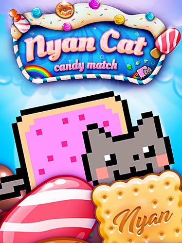 Download Nyan cat: Candy match iPhone Logic game free.
