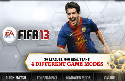 Game FIFA 13 by EA SPORTS for iPhone free download.
