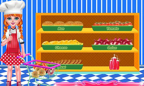 Gameplay screenshots of the Smoky burger maker chef for iPad, iPhone or iPod.