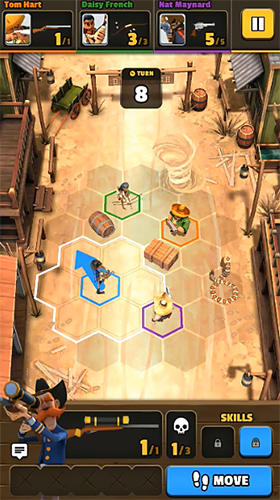 Gameplay screenshots of the Pocket cowboys for iPad, iPhone or iPod.