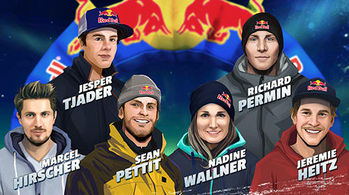 Gameplay screenshots of the Red Bull free skiing for iPad, iPhone or iPod.