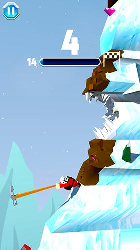 Gameplay screenshots of the Peak climb for iPad, iPhone or iPod.