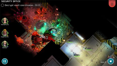 Gameplay screenshots of the Xenowerk tactics for iPad, iPhone or iPod.