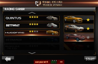 Gameplay screenshots of the Car Club:Tuning Storm for iPad, iPhone or iPod.