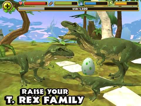 Gameplay screenshots of the Jurassic life for iPad, iPhone or iPod.