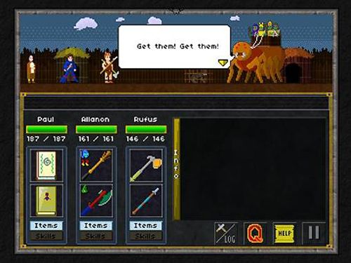 Gameplay screenshots of the Pixel heroes: Byte and magic for iPad, iPhone or iPod.