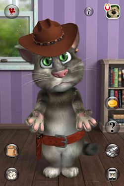 Gameplay screenshots of the Talking Tom Cat 2 for iPad, iPhone or iPod.