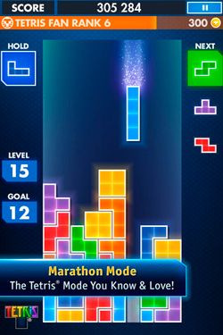 Gameplay screenshots of the TETRIS for iPad, iPhone or iPod.