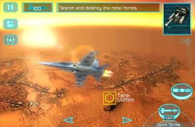 Gameplay screenshots of the Tom Clancy's H.A.W.X. for iPad, iPhone or iPod.