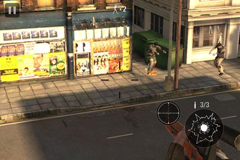 Gameplay screenshots of the Zombie hunter: Bring death to the dead for iPad, iPhone or iPod.