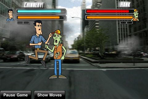 Gameplay screenshots of the Street zombie fighter for iPad, iPhone or iPod.