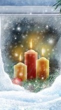 New 800x480 mobile wallpapers Holidays, New Year, Objects, Christmas, Xmas, Candles free download.