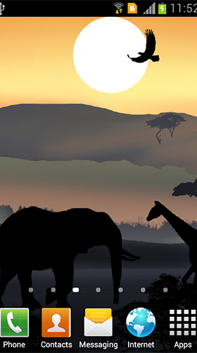Download African sunset free Landscape livewallpaper for Android phone and tablet.