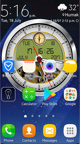 Download Analog clock 3D free 3D livewallpaper for Android phone and tablet.