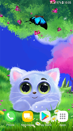 Download Animated cat free Fantasy livewallpaper for Android phone and tablet.