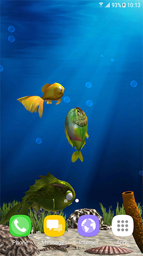 Download Aquarium fish 3D by BlackBird Wallpapers free 3D livewallpaper for Android phone and tablet.