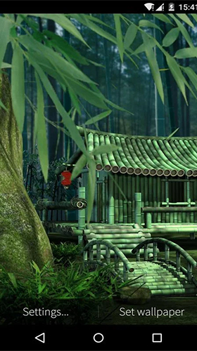 Download Bamboo house 3D free Landscape livewallpaper for Android phone and tablet.